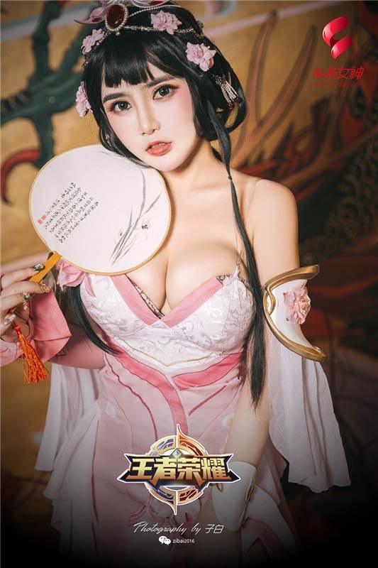 [TTGIRLS头条女神]2019-03-08 王者甄姬 温心怡[9P/9.59M]